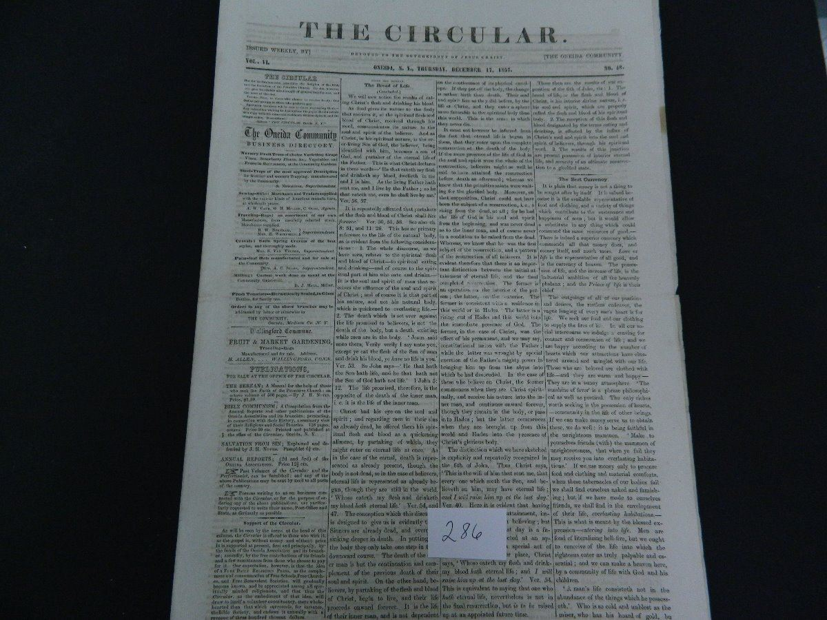 1850 s the circular newspaper oneida ny guaranteed old