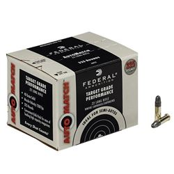 1 Box of Federal .22 LR 40 Grain Solid Auto Match