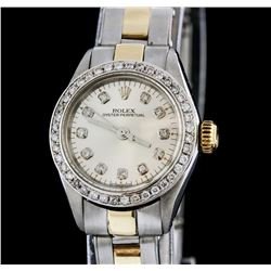 Rolex Two-Tone Diamond Oyster Perpetual Ladies Watch