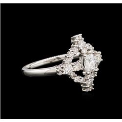 0.90ctw Diamond Ring - 18KT White Gold