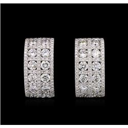2.51ctw Diamond Earrings - 18KT White Gold