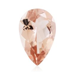 13.02ctw. Natural Pear Cut Morganite