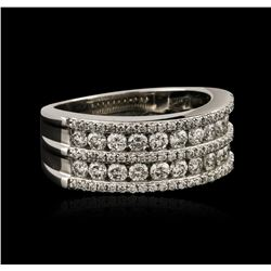 18KT White Gold 0.91ctw Diamond Ring