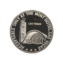 1967 $5 Las Vegas Sterling Silver Gaming Token