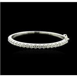 14KT White Gold 4.22ctw Diamond Bangle Bracelet