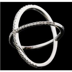 14KT White Gold 0.61ctw Diamond Ring