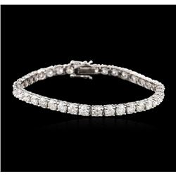 14KT White Gold 8.20ctw Diamond Tennis Bracelet