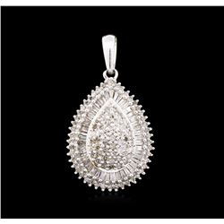 1.05ctw Diamond Pendant - 10KT White Gold