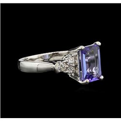 2.25ct Tanzanite and Diamond Ring - 14KT White Gold
