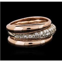 14KT Two-Tone Gold 0.55ctw Diamond Ring