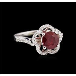 1.87ct Ruby and Diamond Ring - 14KT White Gold