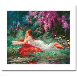 Reading in the Garden by Cao Yong