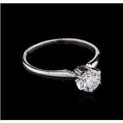 GIA Certified 0.76ct Diamond Solitaire Ring - 18KT White Gold