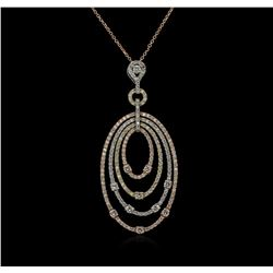 2.08ctw Diamond Pendant With Chain - 14KT Rose Gold