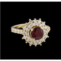 1.62ct Ruby and Diamond Ring - 14KT Yellow Gold