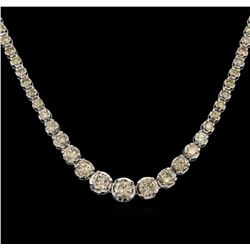 10.29ctw Diamond Tennis Necklace - 14KT White Gold