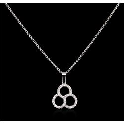 0.20ctw Diamond Pendant With Chain - 14KT White Gold