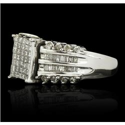 14KT White Gold 1.05ctw Diamond Ring