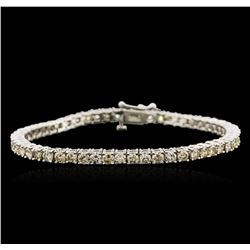 14KT White Gold 6.83ctw Diamond Tennis Bracelet