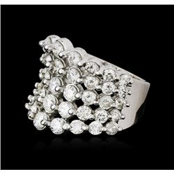 14KT White Gold 5.15ctw Diamond Ring