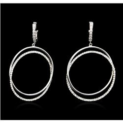 14KT White Gold 1.52ctw Diamond Earrings