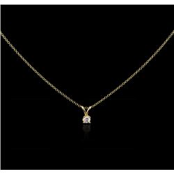 14KT Yellow Gold 0.11ct Diamond Pendant With Chain