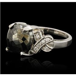 14KT White Gold 2.98ctw Black Diamond Ring