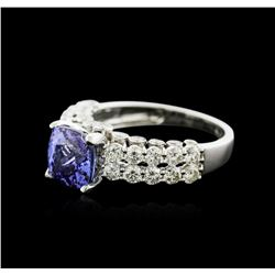 18KT White Gold 2.30ct Tanzanite and Diamond Ring