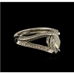 1.34ctw Diamond Ring - 18KT White Gold