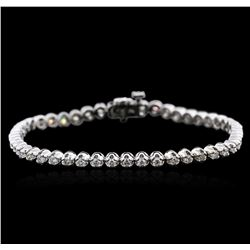 14KT White Gold 2.01ctw Diamond Tennis Bracelet