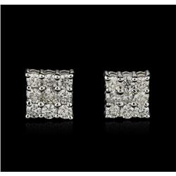 14KT White Gold 1.24ctw Diamond Earrings