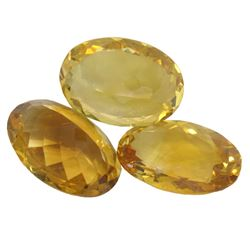 33.17ctw Oval Mixed Citrine Quartz Parcel