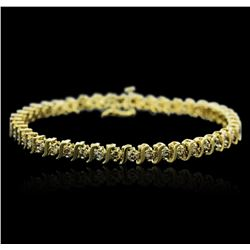 10KT Yellow Gold 2.50ctw Diamond Bracelet