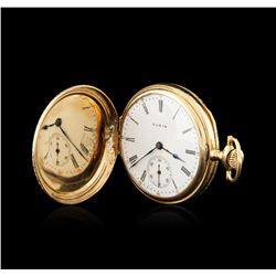 Elgin 14KT Yellow Gold Full Hunter Antique Pocketwatch