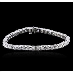 14KT White Gold 4.75ctw Diamond Tennis Bracelet