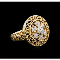 14KT Yellow Gold 0.22ctw Diamond Ring