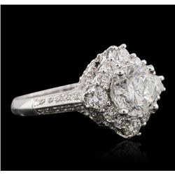 18KT White Gold 3.09ctw Diamond Ring