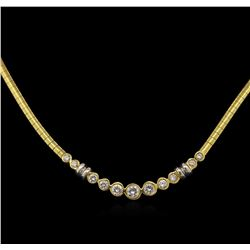 1.21ctw Diamond Necklace - 14KT Yellow Gold