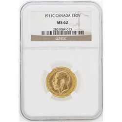 1911 NGC MS62 Canada 1SOV Gold Coin