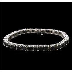 18.01ctw Fancy Black Diamond Tennis Bracelet - 14KT White Gold