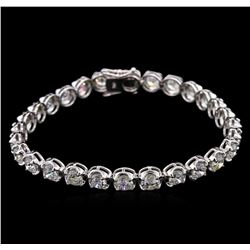 11.20ctw Diamond Tennis Bracelet - 18KT White Gold