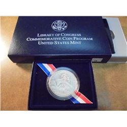 2000-P LIBRARY OF CONGRESS UNC SILVER DOLLAR ORIGINAL US MINT PACKAGING