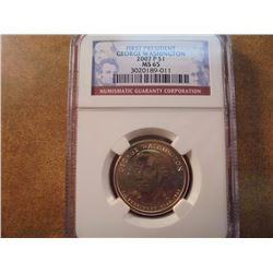 2007-P GEORGE WASHINGTON DOLLAR NGC MS65
