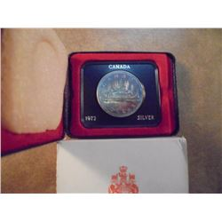 1972 CANADA SILVER DOLLAR PROOF .3750 OZ. ASW ORIGINAL ROYAL CANADIAN MINT PACKAGING