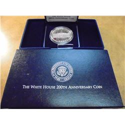 1992-W WHITE HOUSE PROOF SILVER DOLLAR ORIGINAL US MINT PACKAGING