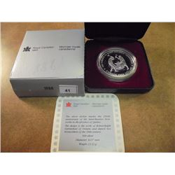 1988 CANADA IRON WORKERS SILVER DOLLAR PROOF .3750 OZ. ASW, ORIGINAL ROYAL CANADIAN MINT PACKAGING