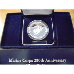 2005-P MARINE CORPS PF SILVER DOLLAR ORIGINAL US MINT PACKAGING