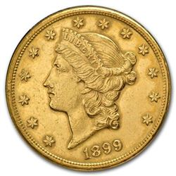$20 Gold Liberty Double Eagle (Minted 1877-1907)