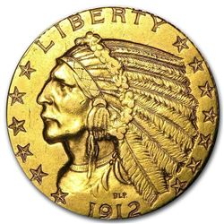 $5 Indian Gold Half Eagle (1908-1929). NUMISMATIC GOLD COIN