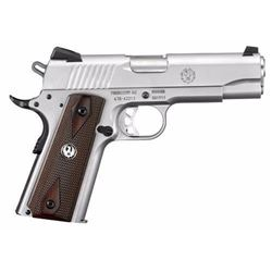 "*NEW* RUGER SR1911 45 ACP SS 4.25"" 7+1 FS Wood Grips Stainless Finish 736676067022"